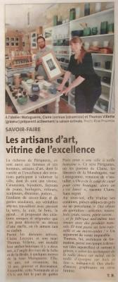 Dordogne Libre (11/06/2016), cahier spécial sur le tourisme au Grand Périgueux